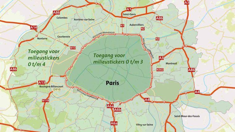 Milieuzones in Frankrijk 2020