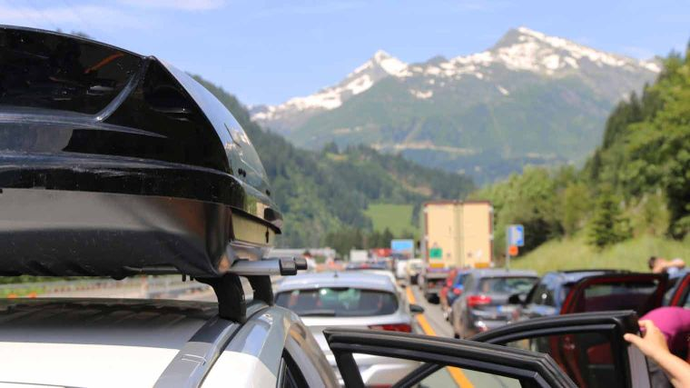 Vakantiedrukte op Europese wegen